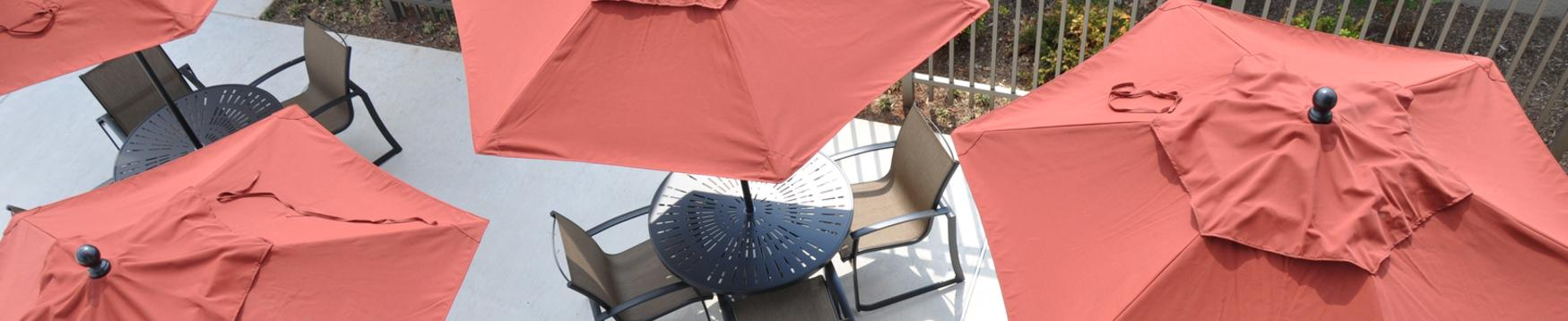 table & guard umbrellas